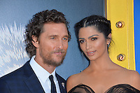 LOS ANGELES, CA. December 3, 2016: Actor Matthew McConaughey &amp; wife Camila Alves at the world premiere of &quot;Sing&quot; at the Microsoft Theatre LA Live.<br /> Picture: Paul Smith/Featureflash/SilverHub 0208 004 5359/ 07711 972644 Editors@silverhubmedia.com