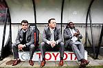Nederland, Nijmegen, 10 mei 2012.Seizoen 2011/2012.Eredivisie.N.E.C.-Vitesse.V.l.n.r.Ted van Leeuwen Technisch Directeur,John van den Brom (m) Stanley Menzo