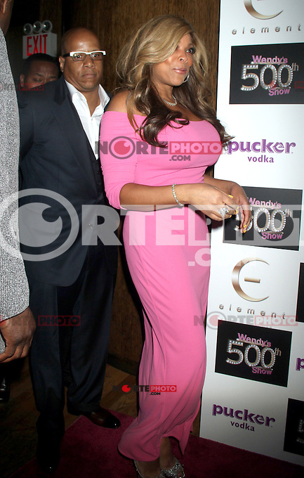 May 24, 2012 Kevin Hunter and Wendy Williams attend the celebration of   Wendy Williams 500th show party  at Elernent  in New York City. © RW/MediaPunch Inc.