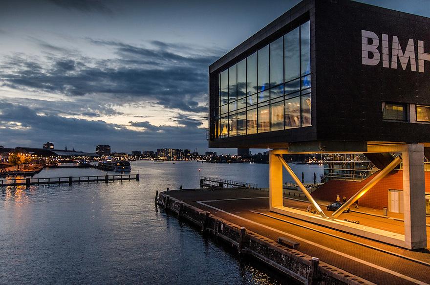 Nederland, Amsterdam, 22 maart 2015<br /> Bimhuis. Zaal van het Bimhuis, podium voor geimproviseerde jazz. <br />  <br /> Foto: Michiel Wijnbergh