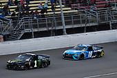 #1: Kurt Busch, Chip Ganassi Racing, Chevrolet Camaro Monster Energy and #19: Martin Truex Jr., Joe Gibbs Racing, Toyota Camry Auto Owners Insurance