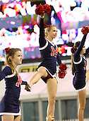 Manatee Hurricanes cheerleaders during the fourth quarter of the Florida High School Athletic Association 7A Championship Game at Florida's Citrus Bowl on December 16, 2011 in Orlando, Florida.  Manatee defeated First Coast 40-0.  (Photo By Mike Janes Photography)