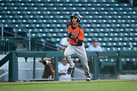AZL Giants Orange Abdiel Layer (19) runs home during an Arizona League game against the AZL Cubs 1 on July 10, 2019 at Sloan Park in Mesa, Arizona. The AZL Giants Orange defeated the AZL Cubs 1 13-8. (Zachary Lucy/Four Seam Images)
