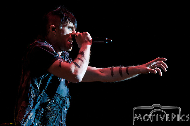 Three Days Grace playing Pointfest, May 2013 at Verizon Wireless Amphitheater, St. Louis MO.