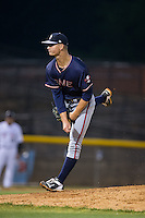 Rome Braves starting pitcher Mike Soroka (54) follows through on his delivery against the Hickory Crawdads at L.P. Frans Stadium on May 12, 2016 in Hickory, North Carolina.  The Braves defeated the Crawdads 3-0.  (Brian Westerholt/Four Seam Images)