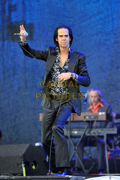 Nick Cave of Nick Cave and the Bad Seeds <br /> Glastonbury Festival, Worthy Farm, Pilton, Somerset, England 30th June 2013<br /> performing in concert gig live on stage<br /> CAP/MAR<br /> &copy; Martin Harris/Capital Pictures
