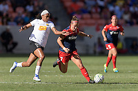 Houston, TX - Sunday Oct. 09, 2016: Jessica McDonald, Christine Nairn during the National Women's Soccer League (NWSL) Championship match between the Washington Spirit and the Western New York Flash at BBVA Compass Stadium. The Western New York Flash win 3-2 on penalty kicks after playing to a 2-2 tie.