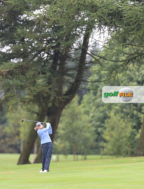 Hilary McHenry (Mahee Island) during the Ulster Mixed Foursomes Final, Shandon Park Golf Club, Belfast. 19/08/2016<br /> <br /> Picture Jenny Matthews / Golffile.ie<br /> <br /> All photo usage must carry mandatory copyright credit (&copy; Golffile | Jenny Matthews)