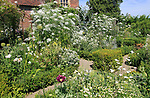 The White Garden, Sissinghurst castle gardens, Kent, England, UK