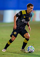 16th July 2020, Orlando, Florida, USA;  Columbus Crew forward Pedro Santos (7) looks to pass the ball during the MLS Is Back Tournament between the Columbus Crew SC versus New York Red Bulls on July 16, 2020 at the ESPN Wide World of Sports, Orlando FL.