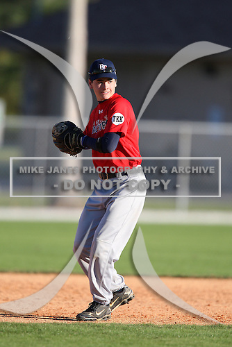 December 29, 2009:  Caillin Boles (1) of the Baseball Factory Cornhuskers team during the Pirate City Baseball Camp & Tournament at Pirate City in Bradenton, Florida.  (Copyright Mike Janes Photography)