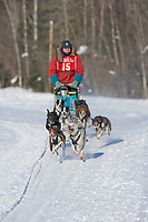 Musher Grahame Howe, 2007 Limited North American Championship Sled dog race in Fairbanks, Alaska.