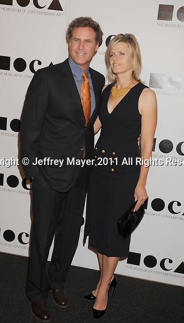 LOS ANGELES, CA - NOVEMBER 12: Will Ferrell and Viveca Paulin arrive at 2011 MOCA Gala, An Artist's Life Manifesto, Directed by Marina Abramovic at MOCA Grand Avenue on November 12, 2011 in Los Angeles, California.