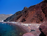 Greece; Cyclades; Santorini; near Akrotiri: Kokkini Paralia - Red Beach