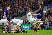 10th February 2019, Twickenham Stadium, London, England; Guinness Six Nations Rugby, England versus France; Ben Youngs of England clears the ball
