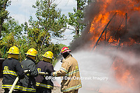 63818-02509 Firefighters at oilfield tank training, Marion Co., IL