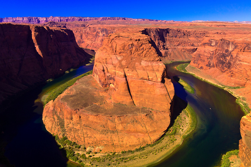 Overview of Horseshoe Bend on the Colorado River, near Page, Arizona USA