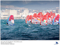 Palma de Mallorca, Spain, 20130401: 2013 SOFIA TROPHY - more than 800 sailors from 53 countries participate in the 44th edition of the Princesa Sofia MAPFRE ISAF Sailing World Cup event. 15 different Classes sail on five race courses across the bay.. .Photo: Mick Anderson/SAILINGPIX