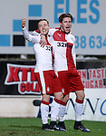 Barrie McKay celebrates his goal for Rangers with Josh Windass