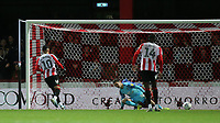 Said Benrahma scores Brentford's sixth goal from the penalty spot during Brentford vs Luton Town, Sky Bet EFL Championship Football at Griffin Park on 30th November 2019
