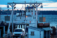 Grand Isle, VT ferry going to Plattsburgh NY on Lake Champlain