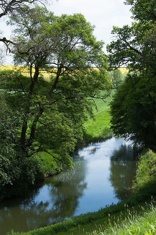The River Cherwell, Rousham House and Garden.