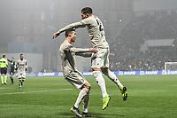 Emre Can Juventus celebrates with team mates Cristiano Ronaldo after scoring a goal.<br /> Reggio Emilia 10-2-2019 Stadio Mapei, Football Serie A 2018/2019 Sassuolo - Juventus<br /> Foto Andrea Staccioli / Insidefoto