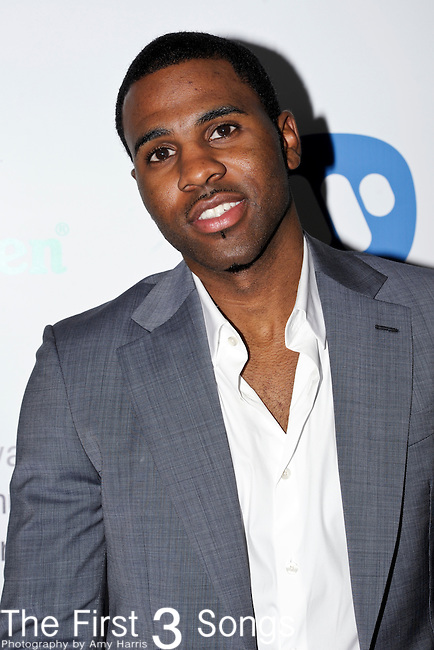 Jason Derulo (real name Jason Joel Desrouleaux) attends the Warner Music Group/Bing Grammy Event at the Soho House in LA on Sunday February 13, 2011.
