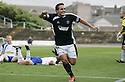 08/08/2009  Copyright  Pic : James Stewart.sct_10_dundee_v_morton  .SEAN HIGGINS CELEBRATES AFTER HE SCORES FOR DUNDEE.James Stewart Photography 19 Carronlea Drive, Falkirk. FK2 8DN      Vat Reg No. 607 6932 25.Telephone      : +44 (0)1324 570291 .Mobile              : +44 (0)7721 416997.E-mail  :  jim@jspa.co.uk.If you require further information then contact Jim Stewart on any of the numbers above.........