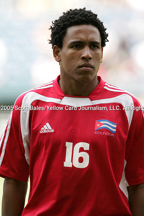 9 July 2005: Cuba's Reysander Fernandez, pregame. Costa Rica defeated Cuba 3-1 at Qwest Field in Seattle, Washington in a Gold Cup first round match..