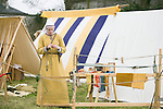 Aislinn Collins from Cork pictured in the Re-Enactment Camp at The Brian Boru Festival in Killaloe/Ballina during the Commemoration Weekend.<br /> Pictured Credit Brian Gavin Press 22