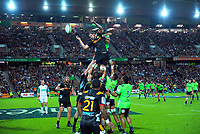 Chiefs lock Tyler Ardron wins lineout ball during the Super Rugby match between the Chiefs and Highlanders at FMG Stadium in Hamilton, New Zealand on Friday, 30 March 2018. Photo: Dave Lintott / lintottphoto.co.nz