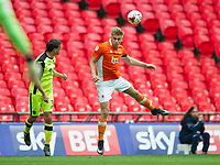 Blackpool's Brad Potts during the Sky Bet League 2 PLAY OFF FINAL match between Exeter City and Blackpool at Wembley Stadium, London, England on 28 May 2017. Photo by Andrew Aleksiejczuk.