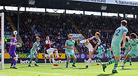 Burnley's Ashley Barnes scores his side's first goal  <br /> <br /> Photographer Alex Dodd/CameraSport<br /> <br /> The Premier League - Burnley v Arsenal - Sunday 12th May 2019 - Turf Moor - Burnley<br /> <br /> World Copyright &copy; 2019 CameraSport. All rights reserved. 43 Linden Ave. Countesthorpe. Leicester. England. LE8 5PG - Tel: +44 (0) 116 277 4147 - admin@camerasport.com - www.camerasport.com
