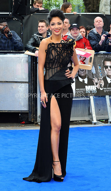 WWW.ACEPIXS.COM . . . . .  ..... . . . . US SALES ONLY . . . . .....May 16 2012, London....Nicole Scherzinger at the premiere of 'Men in Black III' held at the Odeon Leicester Square on May 16 2012 in London....Please byline: FAMOUS-ACE PICTURES... . . . .  ....Ace Pictures, Inc:  ..Tel: (212) 243-8787..e-mail: info@acepixs.com..web: http://www.acepixs.com