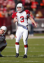 Nick Novak, of the Arizona Cardinals, in action during thier game against the San Francisco 49ers on December 4, 2005..Rob Holt / SportPics..Cardinals win 17-10