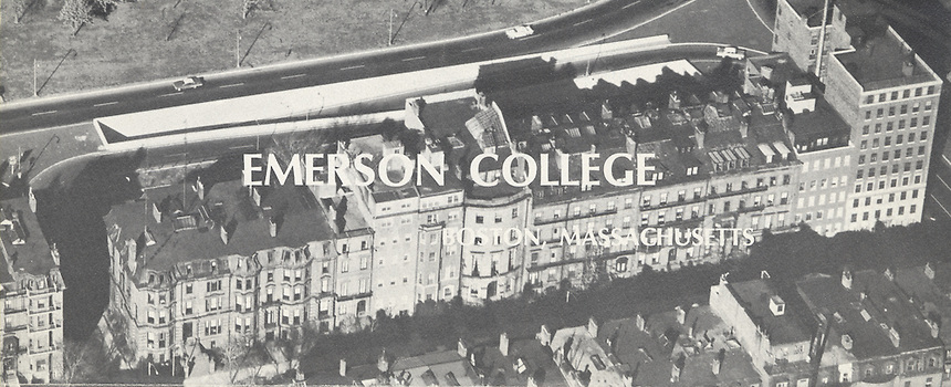arial view of campus from 1970s viewbook