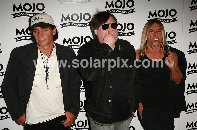 **ALL ROUND PICTURES FROM SOLARPIX.COM**.Mojo Music Awards Honours List 2007 at the Brewery, London..This pic: The Stooges..JOB REF:  4094  GMT   DATE: 18.06.07.**MUST CREDIT SOLARPIX.COM OR DOUBLE FEE WILL BE CHARGED* *UNDER NO CIRCUMSTANCES IS THIS IMAGE TO BE REPRODUCED FOR ANY ONLINE EDITION WITHOUT PRIOR PERMISSION*