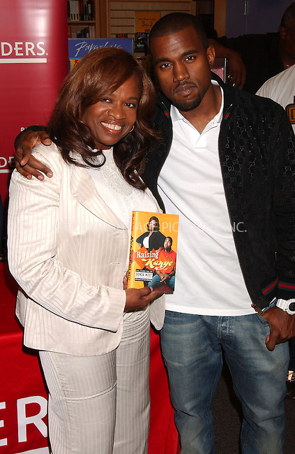 WWW.ACEPIXS.COM . . . . .....June 6, 2007. New York City.....Donda West and musician Kanye West attends their 'Raising Kanye' book signing at Borders...  ....Please byline: Kristin Callahan - ACEPIXS.COM..... *** ***..Ace Pictures, Inc:  ..Philip Vaughan (646) 769 0430..e-mail: info@acepixs.com..web: http://www.acepixs.com