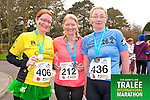 Mary Toomey 406, Margaret Mahoney 212, Kathleen White 436,who took part in the Kerry's Eye Tralee International Marathon on Sunday 16th March 2014