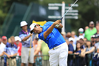 Byeong Hun An (KOR) tees off the 1st tee to start Saturday's Round 3 of the 2017 PGA Championship held at Quail Hollow Golf Club, Charlotte, North Carolina, USA. 12th August 2017.<br /> Picture: Eoin Clarke | Golffile<br /> <br /> <br /> All photos usage must carry mandatory copyright credit (&copy; Golffile | Eoin Clarke)