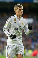 Real Madrid´s Toni Kroos during 2014-15 La Liga match between Real Madrid and Deportivo de la Coruna at Santiago Bernabeu stadium in Madrid, Spain. February 14, 2015. (ALTERPHOTOS/Luis Fernandez) /NORTEphoto.com