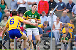 Paul Geaney, Kerry in action against Gordon Kelly, Clare in the Munster Senior Championship Semi Final in Cusack Park, Ennis on Sunday.