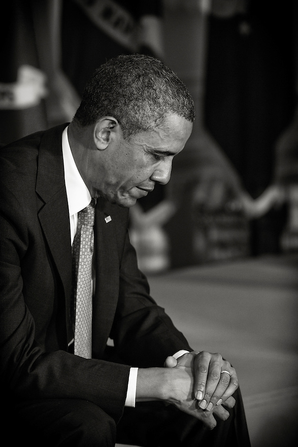 President Obama at an event promoting jobs for veterans in the East Room of the White House.