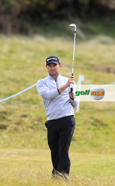 Gareth Maybin (NIR) on the 1st during Round 1 of the 2015 Dubai Duty Free Irish Open, Royal County Down Golf Club, Newcastle Co Down, Northern Ireland. 28/05/2015<br /> Picture Thos Caffrey, www.golffile.ie