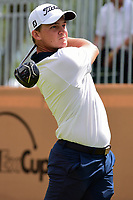Bud Cauley (USA) watches his tee shot on 17 during round 2 of the Valero Texas Open, AT&amp;T Oaks Course, TPC San Antonio, San Antonio, Texas, USA. 4/21/2017.<br /> Picture: Golffile | Ken Murray<br /> <br /> <br /> All photo usage must carry mandatory copyright credit (&copy; Golffile | Ken Murray)