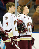 Carl Sneep (Boston College - Nisswa, Minnesota), Tim Filangieri (Boston College - Islip Terrace, NY) - The Boston College Eagles defeated the Miami University Redhawks 4-0 in the 2007 NCAA Northeast Regional Final on Sunday, March 25, 2007 at the Verizon Wireless Arena in Manchester, New Hampshire.