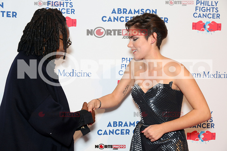 PHILADELPHIA, PA - OCTOBER 28: Whoopi Goldberg pictured pictured backstage with Caly Bevier  at Philly Fights Cancer round 3 at The Navy Yard in Philadelphia, Pa on October 28, 2017  Credit: Star Shooter/MediaPunch /NortePhoto.com