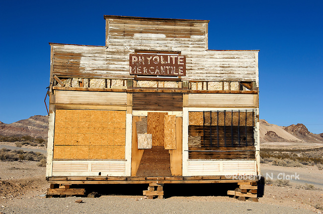 Rhyolite, Nevada ghost town, old mining town with ruins