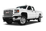 Stock pictures of low aggressive front three quarter view of 2016 GMC Sierra-2500HD 2WD-Double-Cab-Long-Box 4 Door Pick-up Low Aggressive